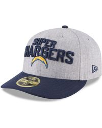 free shipping c6f0d 120bc KTZ - Los Angeles Chargers Draft Low Profile 59fifty Fitted Cap - Lyst