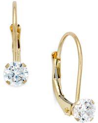 97486deef Swarovski Silver-tone Trillion-cut Leverback Earrings in Metallic - Lyst