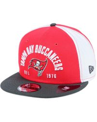 check out 9e44f f2879 KTZ - Tampa Bay Buccaneers Establisher 9fifty Snapback Cap - Lyst
