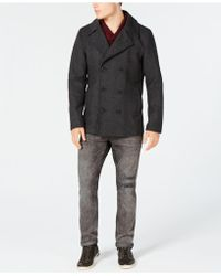 American Rag - Men's Wool Blend Peacoat With Removable Hood And Bib, Created For Macy's - Lyst