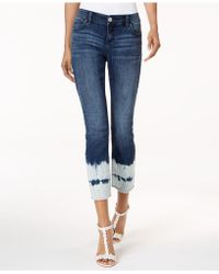 INC International Concepts - I.n.c. Curvy-fit Cropped Tie-dyed Jeans, Created For Macy's - Lyst