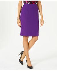 Kasper - Back-slit Pencil Skirt - Lyst