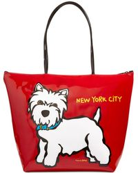 Marc Tetro - Nyc Westie Large Zip Tote - Lyst ff020c852d3ea