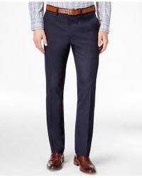 Kenneth Cole Reaction - Men's Slim-fit Stretch Dress Trousers - Lyst