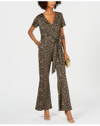 Ivanka Trump - Cheetah-print Belted Jumpsuit - Lyst