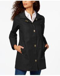 Jones New York - Petite Turn-lock Raincoat - Lyst