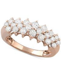 Macy's - Diamond Band (1 Ct. T..w) In 14k White Gold, Gold Or Rose Gold - Lyst