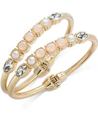 INC International Concepts - I.n.c. Gold-tone 2-pc. Set Stone & Crystal Bangle Bracelets, Created For Macy's - Lyst