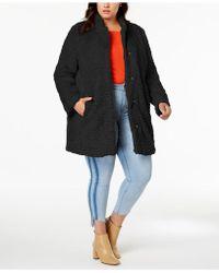 Kenneth Cole - Plus Size Faux-fur Teddy Coat - Lyst