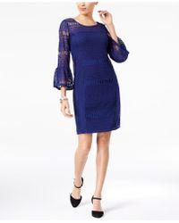 Alfani - Crochet Illusion Dress, Created For Macy's - Lyst