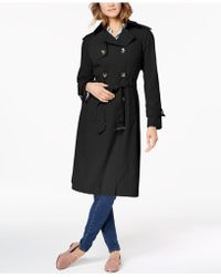 London Fog - Petite Belted Lightweight Trench Coat - Lyst