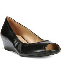 Naturalizer - Contrast Peep Toe Wedges - Lyst