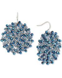 Kenneth Cole | Colored Bead Woven Drop Earrings | Lyst