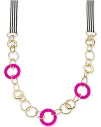 """INC International Concepts - Trina Turk X I.n.c. Gold-tone Bead & Link Ribbon 36"""" Statement Necklace, Created For Macy's - Lyst"""