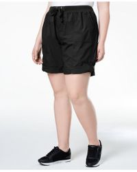 b7941f527d352 Calvin Klein - Performance Plus Size Ribbed-waistband Convertible Shorts -  Lyst