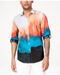 INC International Concepts - Tie Dyed Button Down Shirt, Created For Macy's - Lyst