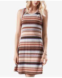 Karen Kane - Zig-zag Printed Sleeveless Dress - Lyst