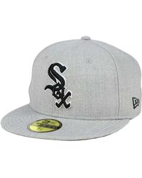 online store 08e4d d41e6 KTZ - Chicago White Sox Heather Black White 59fifty Cap - Lyst