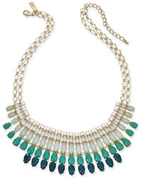 "INC International Concepts - I.n.c Gold-tone Stone Multi-layered Statement Necklace, 18"" + 3"" Extender, Created For Macy's - Lyst"