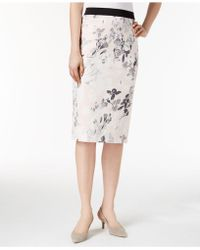 Alfani - Printed Scuba Skirt, Created For Macy's - Lyst