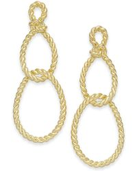 Kate Spade - Gold-tone Sailor's Knot Drop Earrings - Lyst