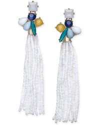 INC International Concepts - I.n.c. Gold-tone Stone & Beaded Fringe Drop Earrings, Created For Macy's - Lyst