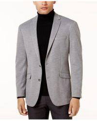 Kenneth Cole Reaction - Men's Slim-fit Light Grey Knit Soft-tailored Sport Coat - Lyst