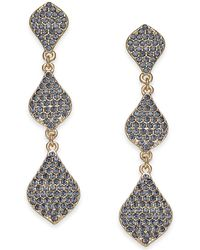 INC International Concepts - I.n.c. Gold-tone Crystal Triple Drop Earrings, Created For Macy's - Lyst
