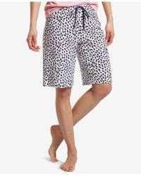 Hue - ® Printed Bermuda Pajama Shorts - Lyst