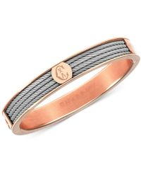 Charriol - Two-tone Bangle Bracelet In Stainless Steel And Rose Gold-tone Pvd Stainless Steel - Lyst