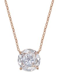 Danori - Rose Gold-tone Round Crystal Pendant Necklace - Lyst