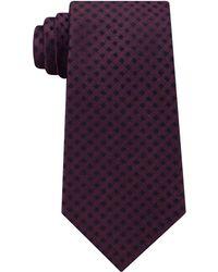 Michael Kors - Men's Gingham Solid Tail Silk Tie - Lyst