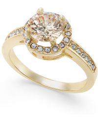 Charter Club - Gold-tone Pavé Halo Ring - Lyst