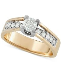 Macy's - Diamond Engagement Ring (3/4 Ct. T.w.) In 14k Gold - Lyst