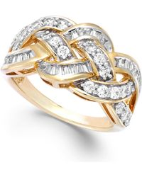Wrapped in Love - Diamond Woven Ring In 10k Gold (1 Ct. T.w.) - Lyst