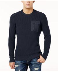 American Rag - Men's Uniformity Patch Sweater - Lyst