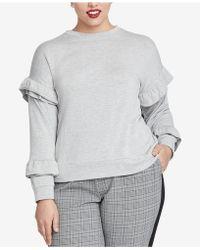 RACHEL Rachel Roy - Trendy Plus Size Ruffled-sleeve Top - Lyst