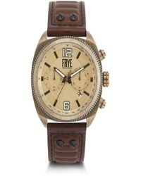 Frye - Mens' Moto Engineer Chronograph Whiskey Leather Strap Watch - Lyst