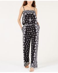 INC International Concepts - I.n.c. Printed Popover Jumpsuit, Created For Macy's - Lyst
