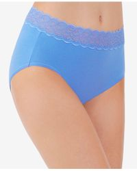 Vanity Fair - Flattering Cotton Lace Stretch Brief 13396 - Lyst