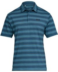 Under Armour - Playoff Performance Mid Striped Golf Polo - Lyst