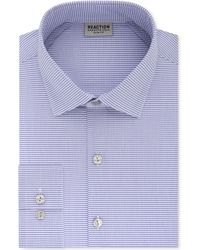 Kenneth Cole Reaction - Techni-cole Slim-fit Flex Collar Three-way Stretch Performance Purple Check Dress Shirt - Lyst