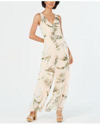 discount shop enjoy cheap price amazon Palm-print Flounce Jumpsuit - Natural