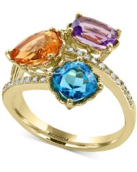 Effy Collection - Multi-gemstone (3-1/2 Ct. T.w.) And Diamond (1/8 Ct. T.w.) Ring In 14k Gold - Lyst