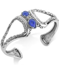 Carolyn Pollack - Lapis Lazuli/rock Quartz Openwork Statement Cuff Bracelet (4-1/5 Ct. T.w.) In Sterling Silver - Lyst