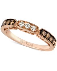 Le Vian - Chocolate And White Diamond Band In 14k Rose Gold (3/8 Ct. T.w.) - Lyst