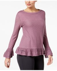 Style & Co. - Ruffle-trim Knit Jumper, Created For Macy's - Lyst