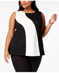 Alfani - Plus Size Colorblocked Sleeveless Top, Created For Macy's - Lyst