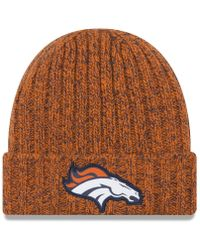 0ddabecefc337 Lyst - Ktz Cable Frosted Denver Broncos Beanie in Gray