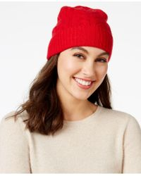 Charter Club - Cable Cashmere Cuff Hat, Only At Macy's - Lyst